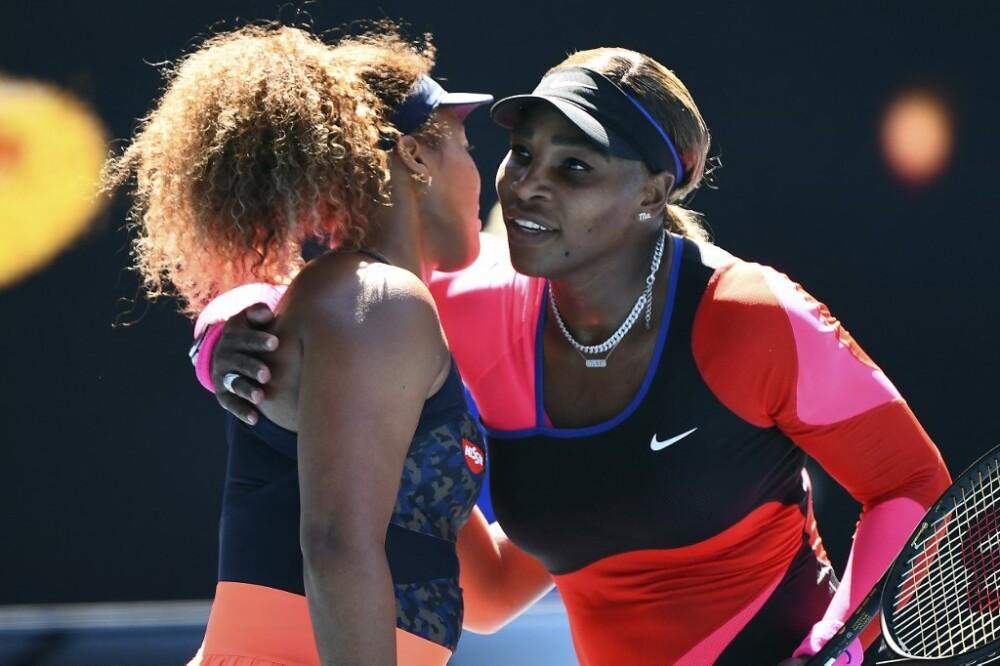 Naomi Oasaka y Serena Williams. Foto AFP