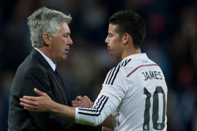 334106_Carlo Ancelotti y James Rodríguez.