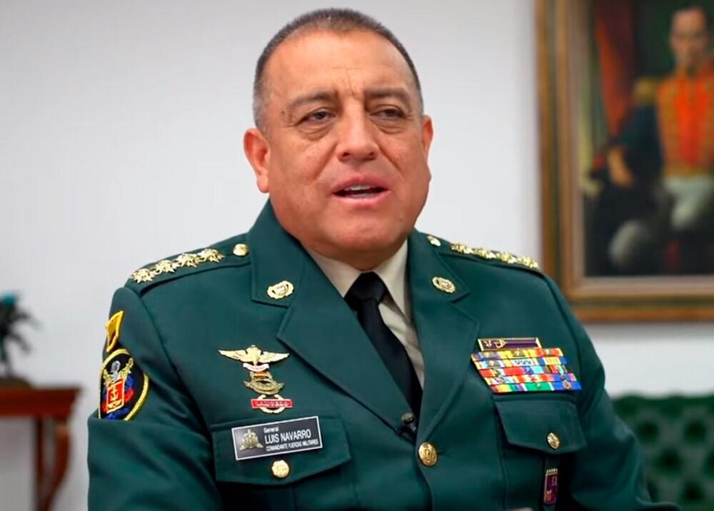 General Luis Fernando Navarro Jiménez, comandante FF.MM. // Foto: captura video Canal Institucional