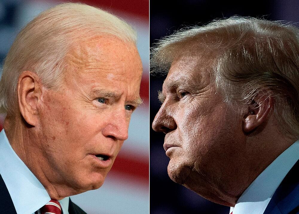 Joe Biden y Donald Trump. AFP