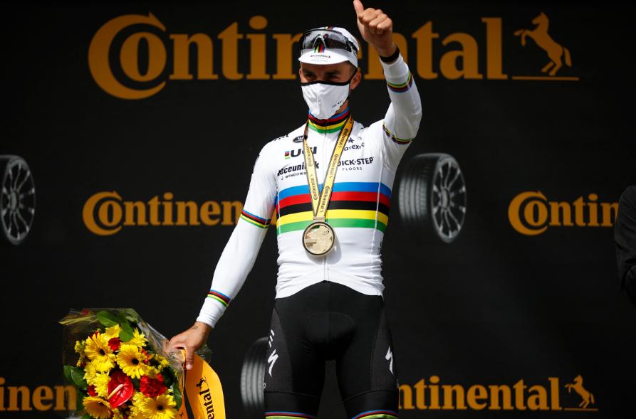 Julian Alaphilippe fue el ganador de la etapa 1 del Tour de Francia.
