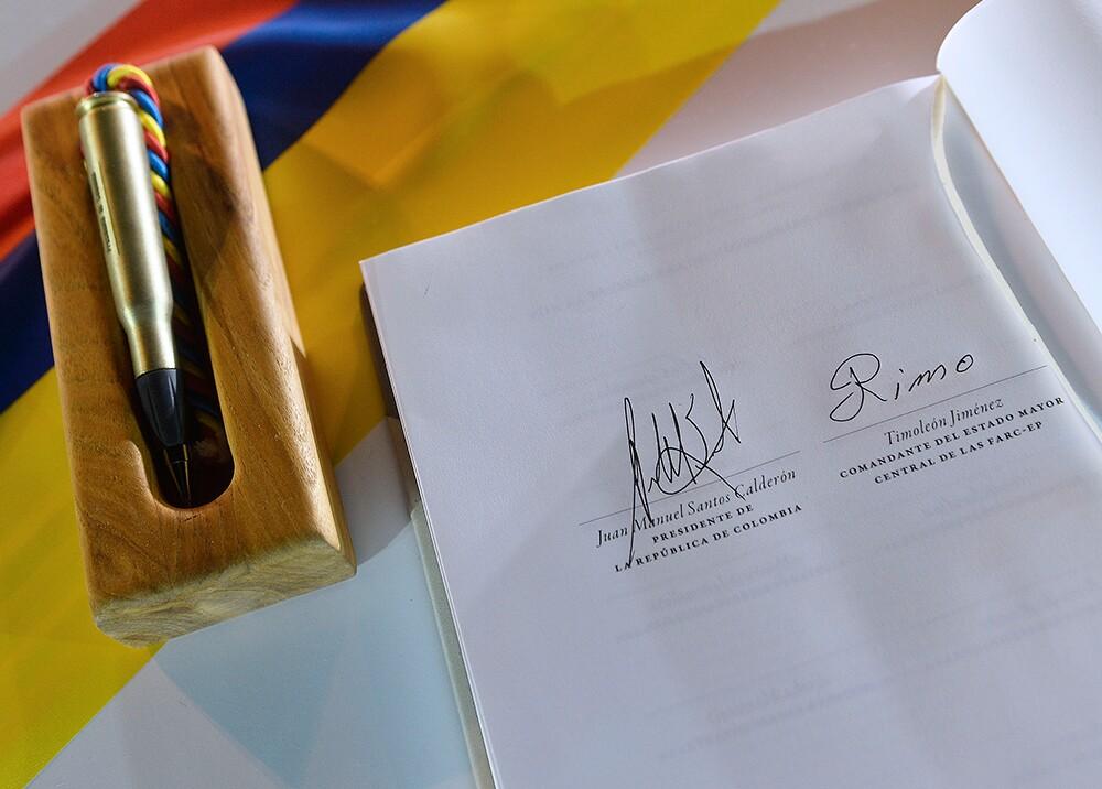 270374_BLU Radio. Acuerdo de paz Gobierno - Farc // Foto: AFP