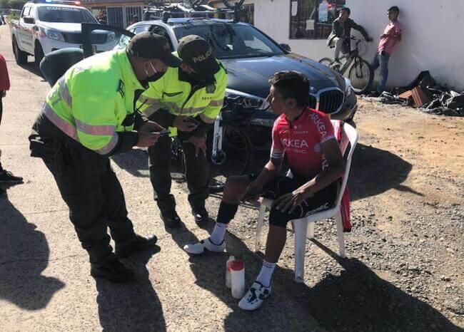 369815_Accidente de Nairo Quintana / Foto: Alcaldía de Motavita