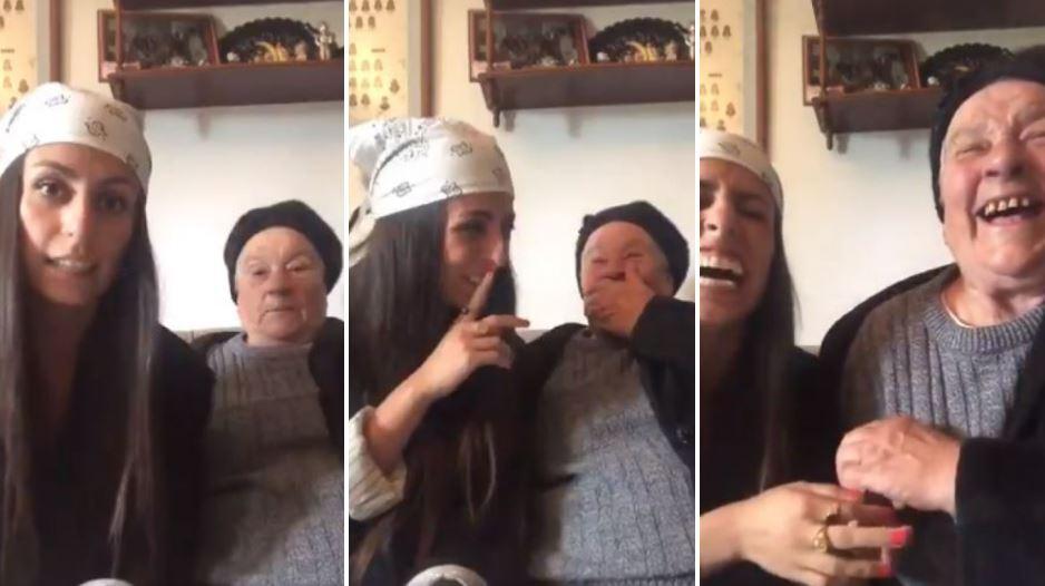 broma de una nieta a su abuela