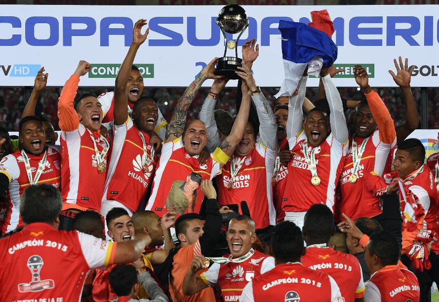 Santa Fe logró en 2015 el título de la Copa Sudamericana. AFP.