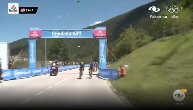 Primer premio de montaña de la etapa 17 del Giro de Italia.