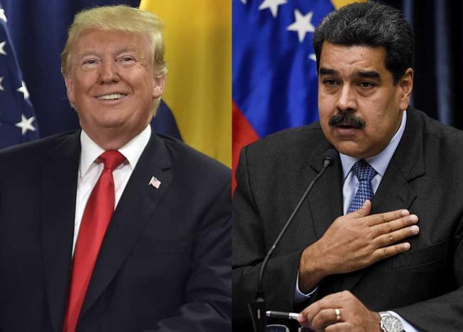 327839_BLU Radio, Trump y Maduro / foto: AFP