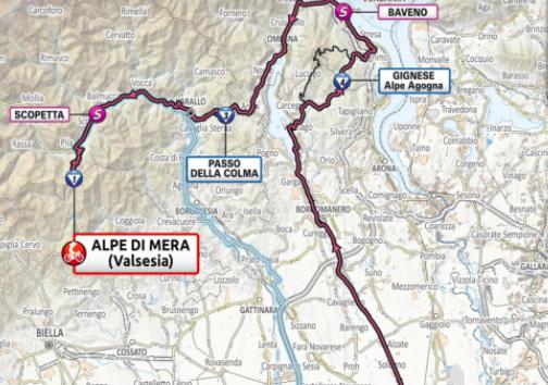 Así será la etapa 19 del Giro de Italia 2021.