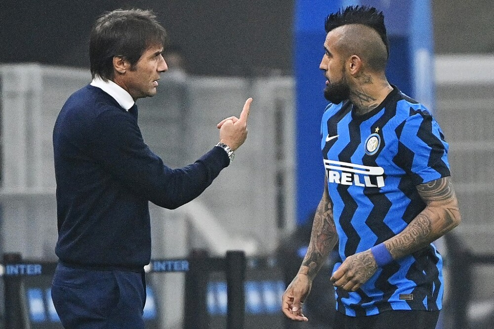 Arturo Vidal y Antonio Conte, Inter de Milán