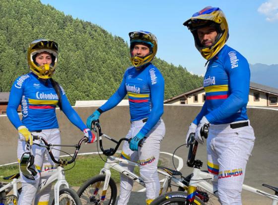 Mariana Pajón, Carlos Ramírez y Vincent Pelluard integran el equipo de Colombia en el BMX de los Juegos Olímpicos.