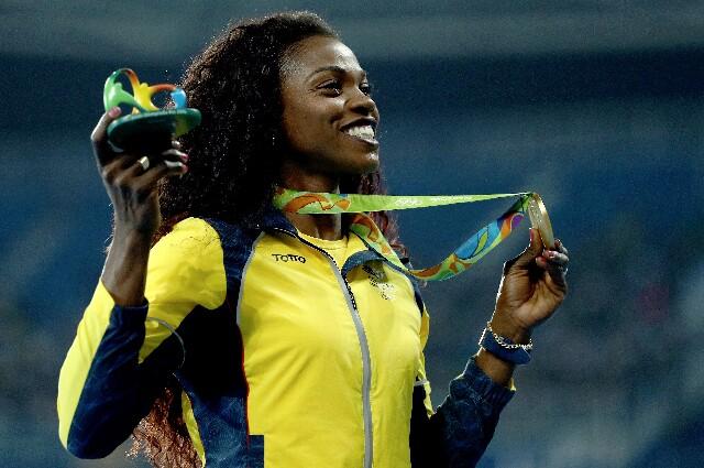 Caterine Ibargüen, en los Juegos Olímpicos de Río de Janeiro 2016