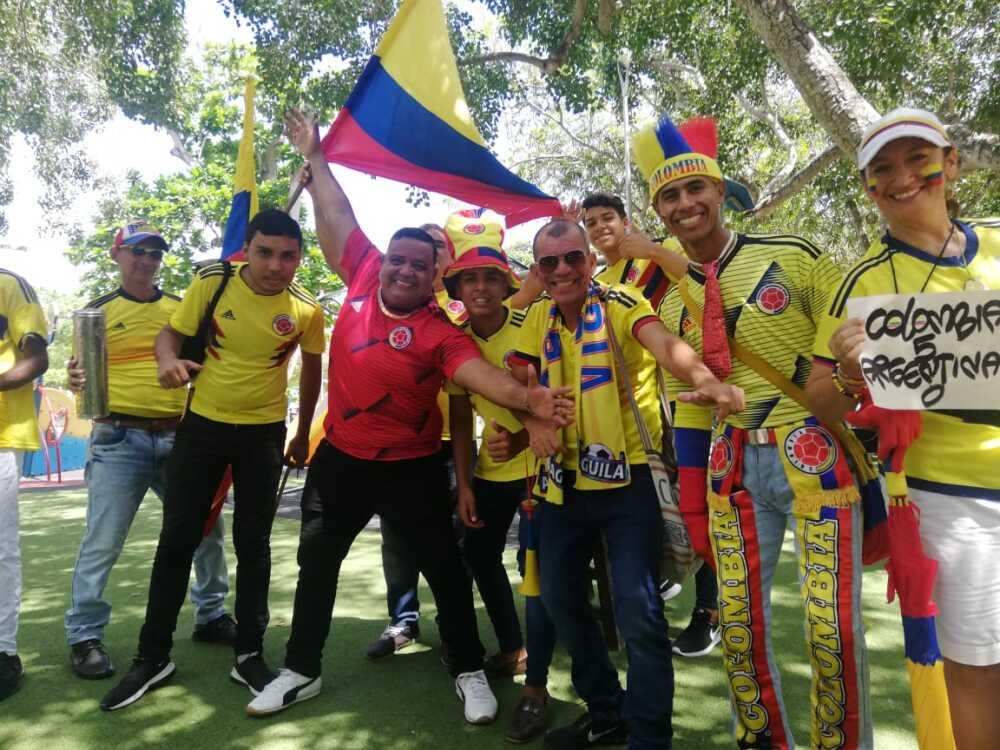 336491_Blu Radio/ Hinchas de la Selección en Barranquilla. Foto: BLU Radio