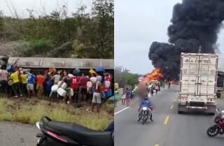 Explosión camión con gasolina en Tasajera Magdalena.jpg