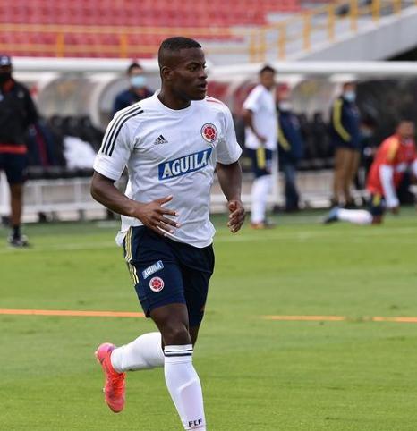 Andrés Felipe Román, jugador convocado al morfociclo de la Selección Colombia. FCF.PNG