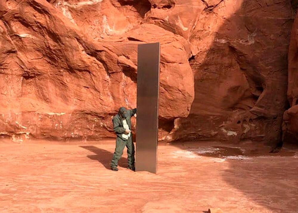 Misterioso monolito hallado en Utah