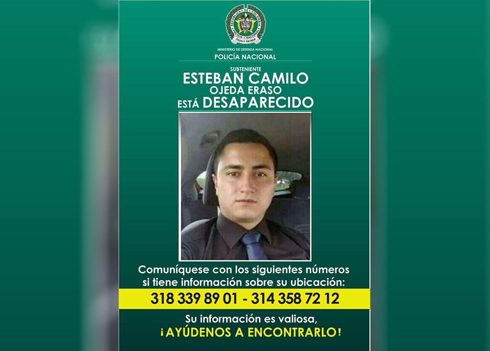 304017_Blu Radio. Seis días cumple desaparecido un subteniente de la policía en Bogotá / Foto: Policía