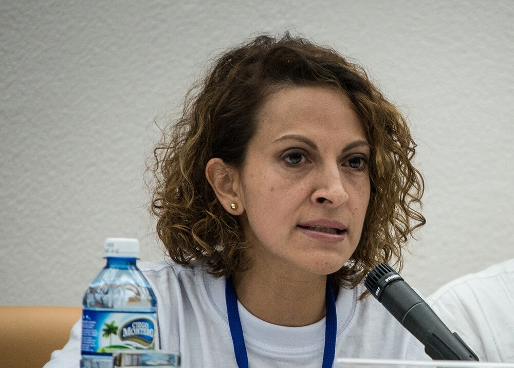 Jineth Bedoya. Foto: AFP