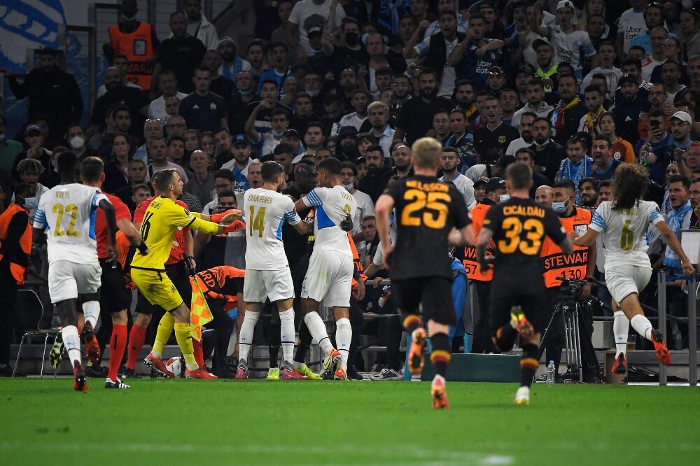 Fuertes discusiones entre Marsella y Galatasaray, en la Europa League