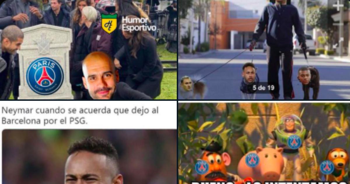 Luego de la derrota de PSG, las burlas no faltaron en las redes sociales: Neymar, el más criticado
