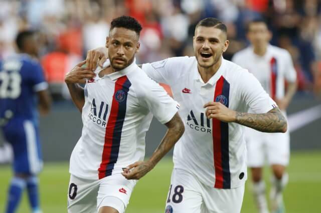 Neymar y Mauro Icardi