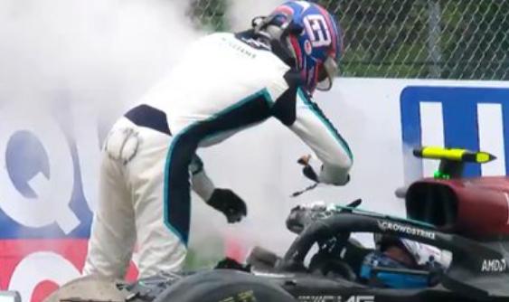 George Russell y Valtteri Bottas protagonizaron un accidente en la Fórmula 1.