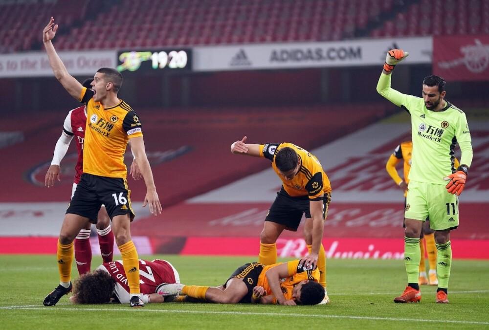 Wolves Arsenal Raúl Jimenez Foto AFP