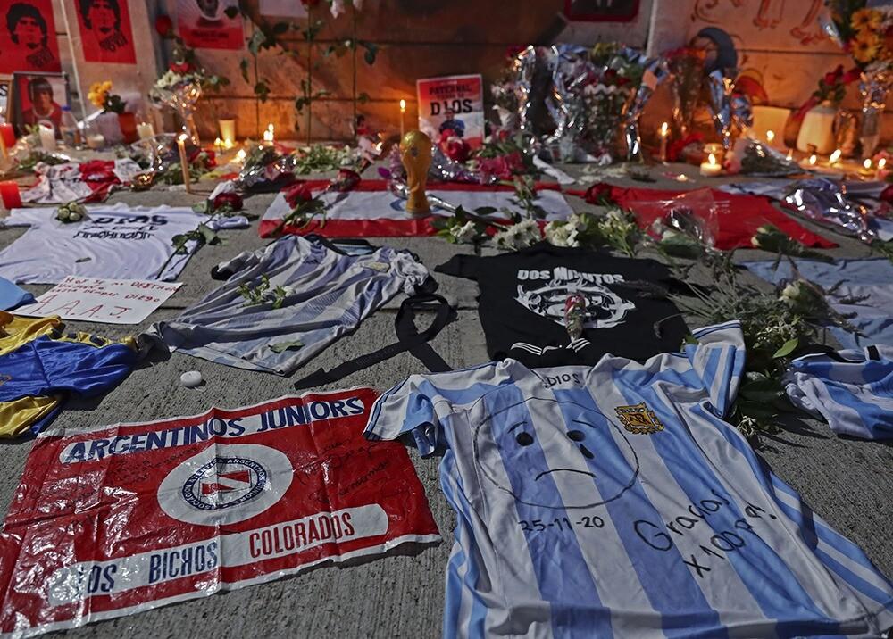 Duelo por muerte de Maradona / AFP