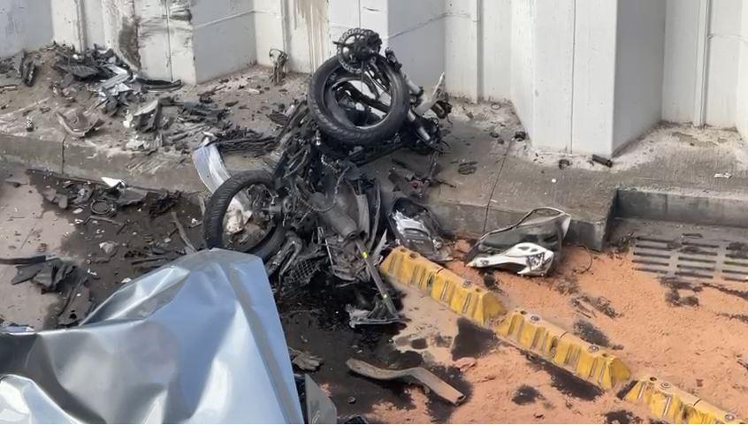 accidente en el deprimido de la 94 de Bogotá
