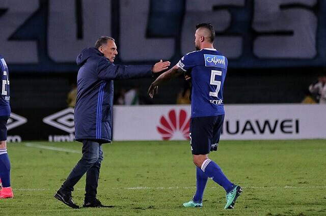 332587_Miguel Ángel Russo y Andrés Cadavid, en su etapa en Millonarios