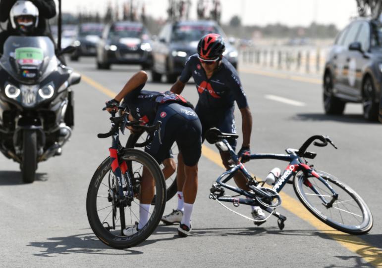 Brandon Rivera fue un gregario de lujo para el Ineos en la etapa 3 del UAE Tour.