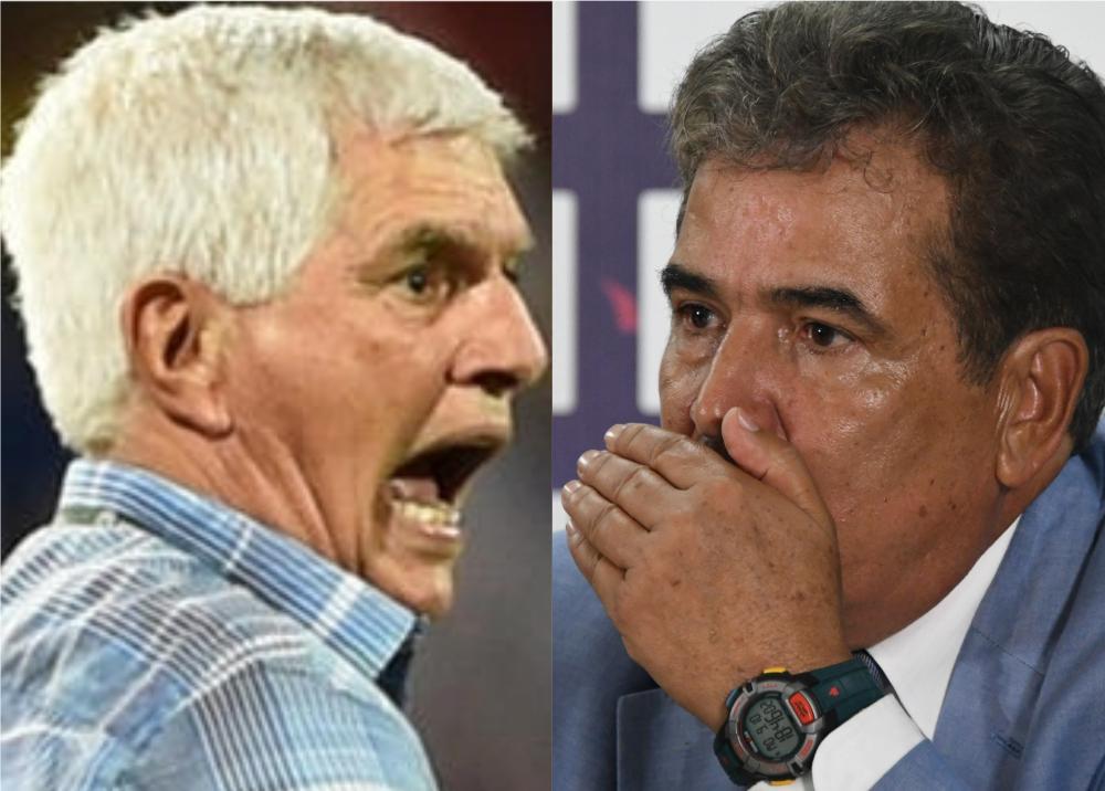 346332_BLU Radio. Julio Comesaña y Jorge Luis Pinto // Foto: AFP