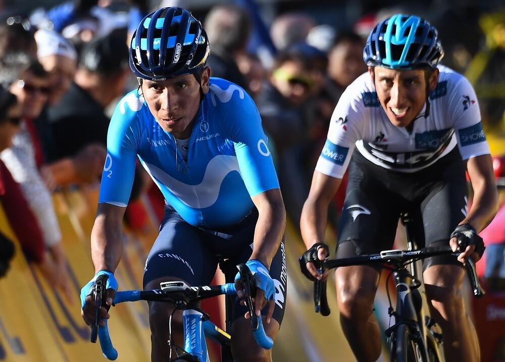 345440_BLU Radio. Nairo Quintana y Egan Bernal / Foto: AFP