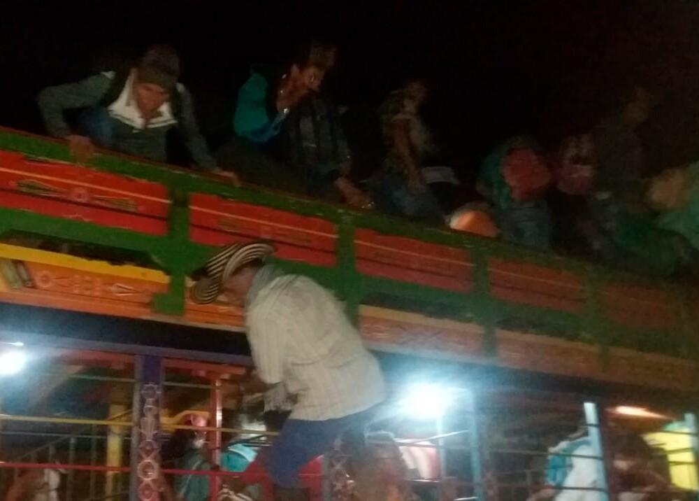 356108_Desplazamiento masivo en Ituango // Foto: Twitter @FunSumapaz
