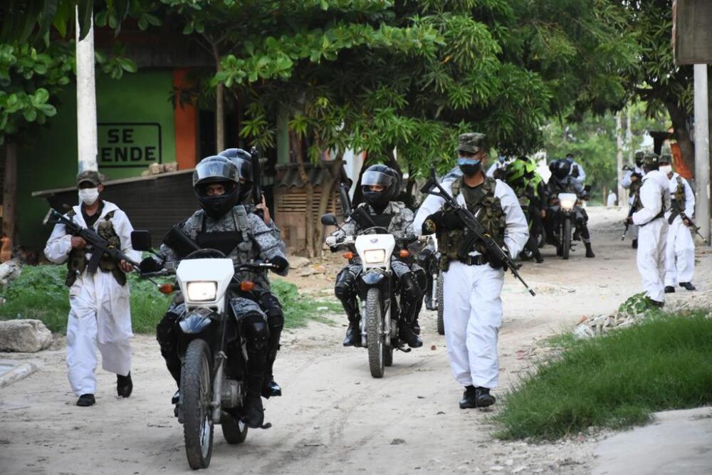 Ejército en las calles de los municipios del Atlántico