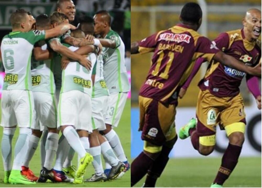 288067_BLU Radio. Atlético Nacional - Deportes Tolima / Fotos: @atleticonacionaloficial y AFP