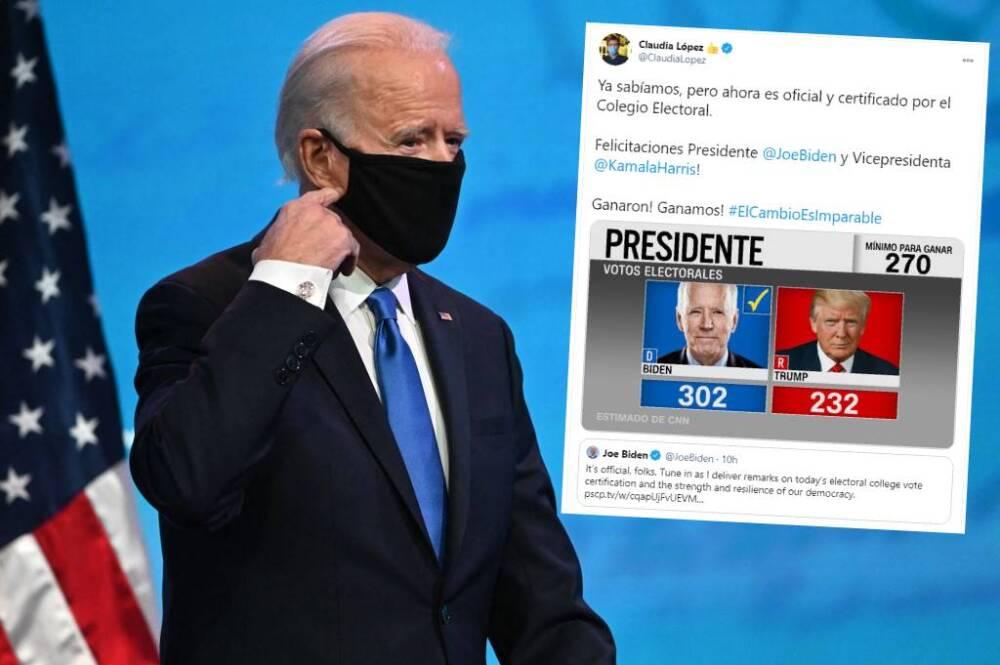 Joe Biden - felicitación de Claudia López