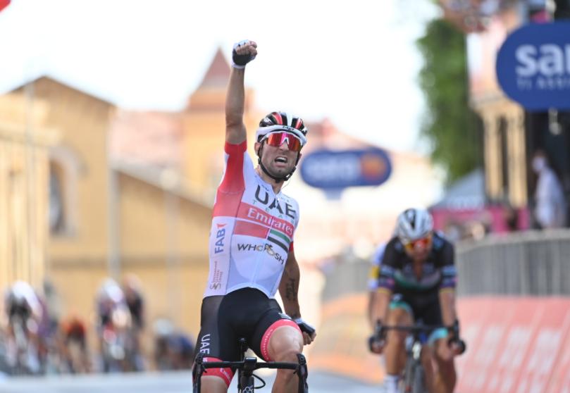 Diego Ulissi, ganador de la etapa 2 del Giro de Italia 2020.