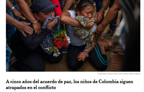 New York Times- titular  niños conflicto en Colombia.jpg