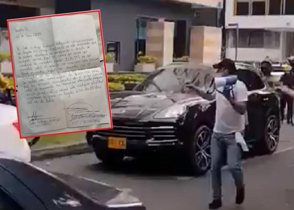 acuerdo firmado entre conductor y manifestante en bogota.jpg