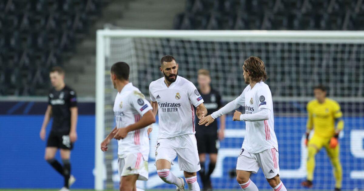 Real Madrid se salvó de un nuevo papelón en la Champions: le empató en el final 2-2 al Gladbach