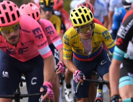 Sergio Higuita fue cuarto en la etapa 3 de Tirreno-Adriático. Getty Images