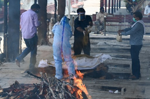cremación en India