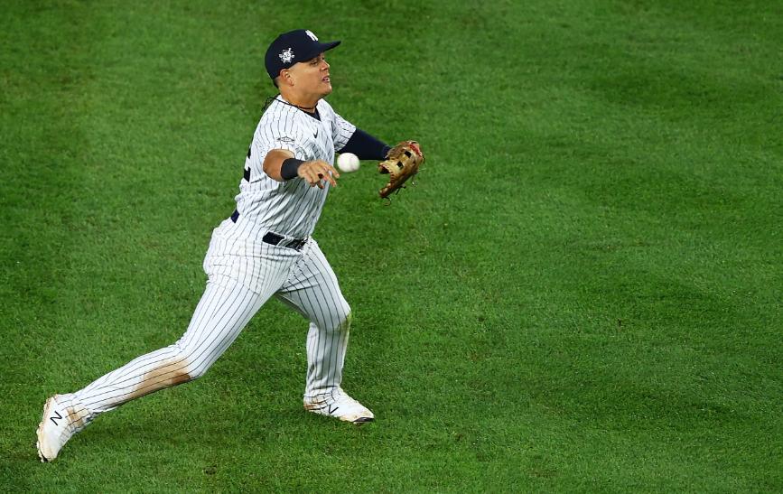 Gio Urshela fue figura de los Yankees frente a los Rays.