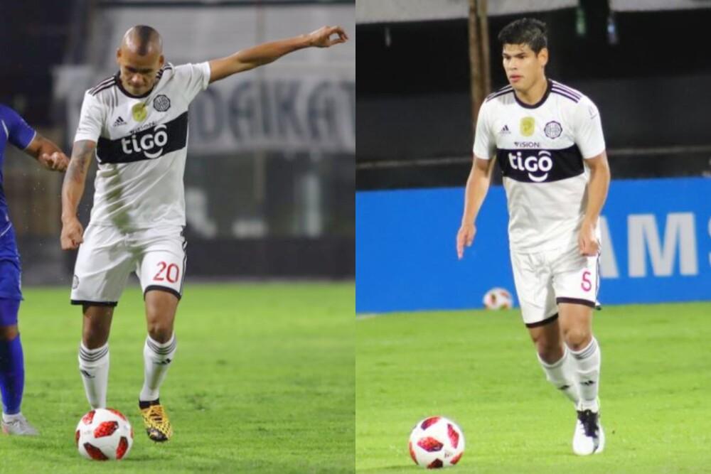 Sergio Otálvaro y Jorge Arias, jugadores de Olimpia