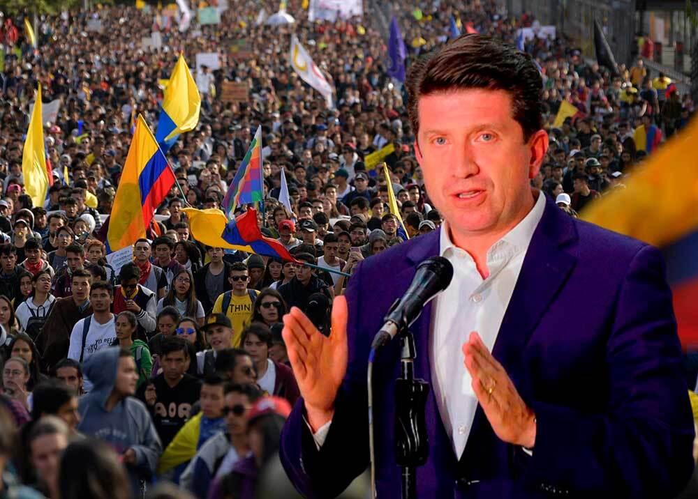 350884_Diego Molano habla sobre peticiones del comité nacional de paro // Fotos: AFP - Presidencia