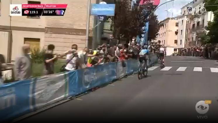 Simon Pellaud ganó el único premio de montaña de la etapa 7 del Giro de Italia.