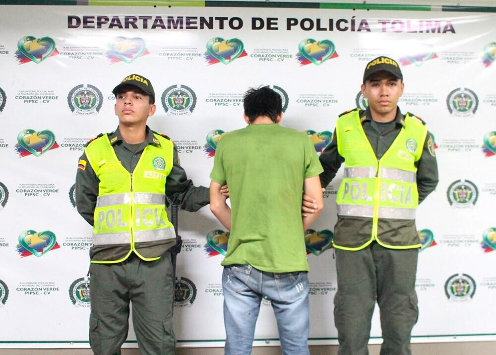 301429_BLU Radio. Capturado Melgar / Foto: Policía