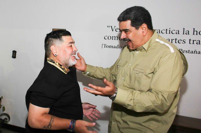 333637_Diego Maradona y Nicolás Maduro