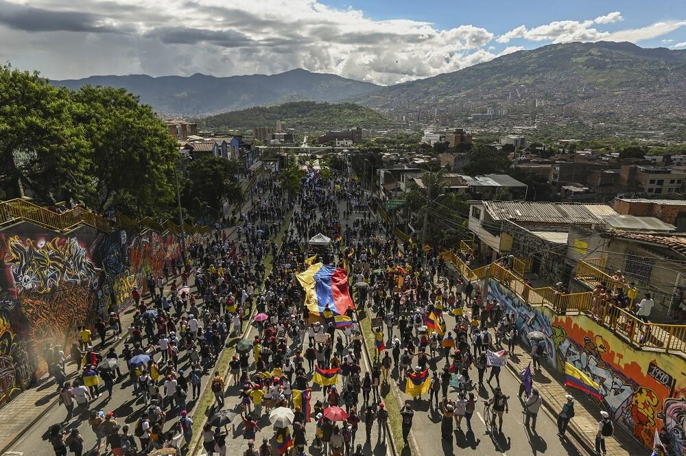 paro nacional, marchas en Medellín