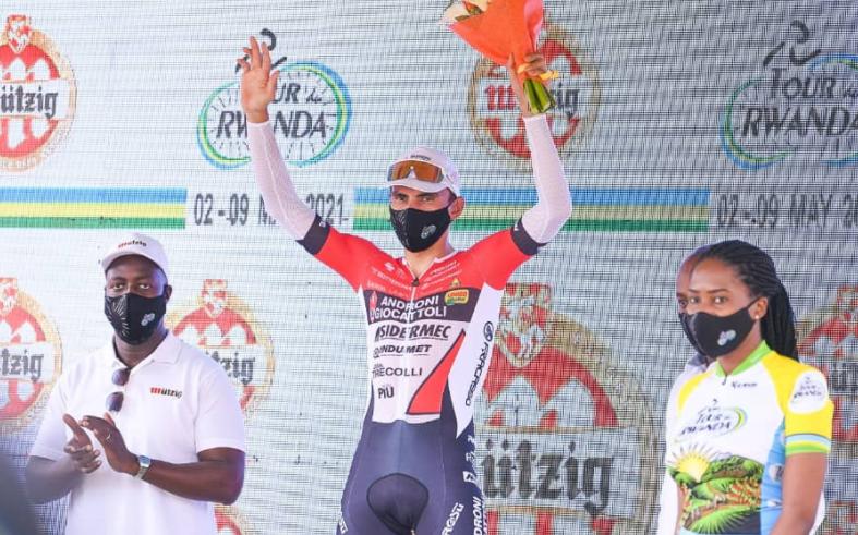 Jhonatan Restrepo ganó la etapa 7 del Tour de Ruanda.